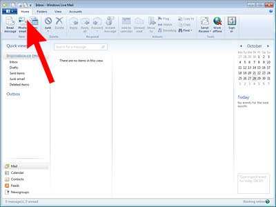 Set up Windows Live Mail: add account